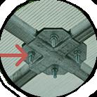 Крепление `Краб система` на 4-х болтах